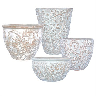Lily Leaf Planter Antique White