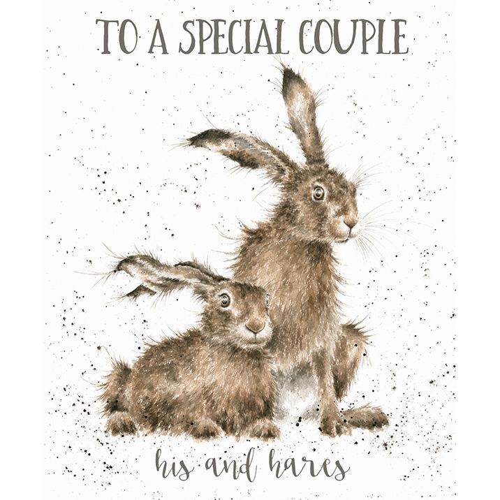 'His and Hares' card