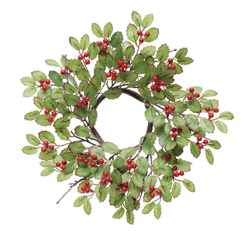 Holiday Wreath with Red Berries