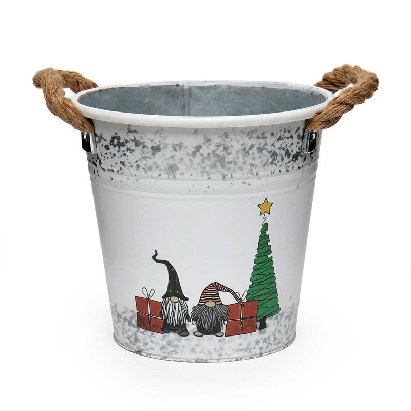 GNOME CHRISTMAS SCENE BUCKET