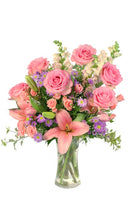 'Rose's Blush' Vase Arrangement