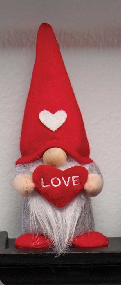 Valentine Mini Gnome with Heart