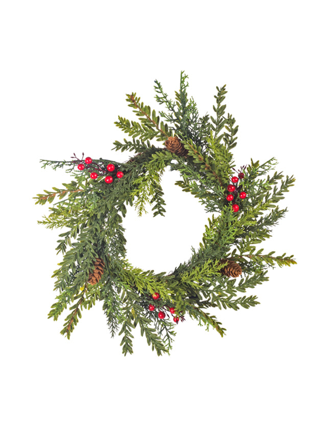 Mix Pine with Berries Wreath
