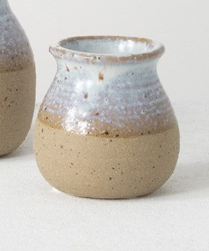 Dual Finish Ceramic Mini Vase