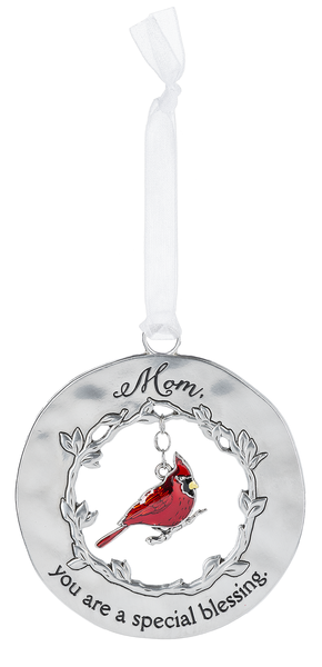 """Mom"" Always in My Heart Cardinal Ornament"