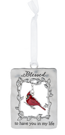 """Blessed"" Always in My Heart Cardinal Ornament"