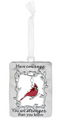 """Courage"" Always in My Heart Cardinal Ornament"
