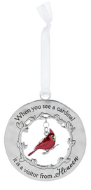 """Heaven"" Always in My Heart Cardinal Ornament"