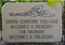 """When Someone You Love Memory"" Stone Plaque"