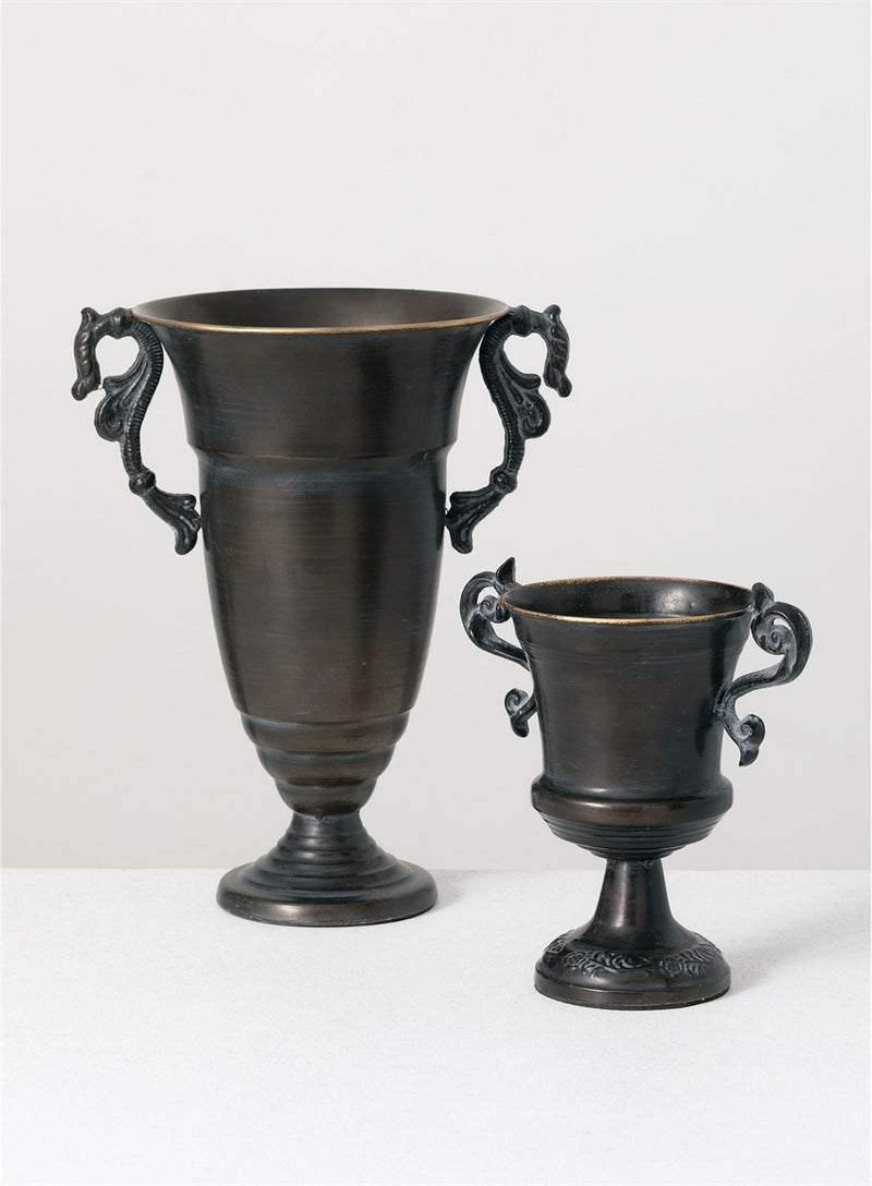 Stately Cast Metal Urns