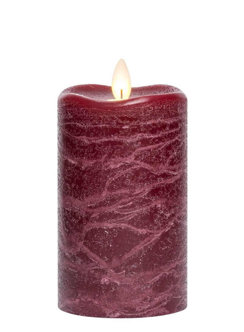 Frosted Pillar Candles Assorted Colors