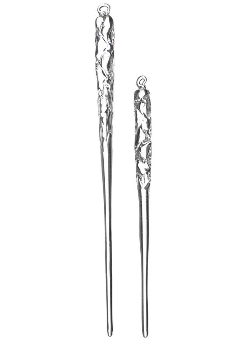 Regal Twist Glass Icicle Ornament