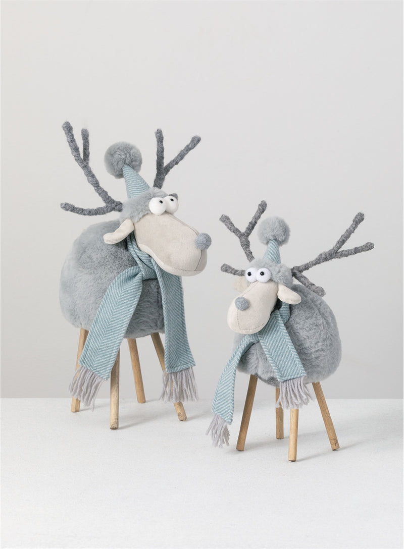 Plush Standing Moose Figurine