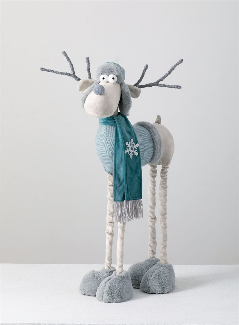 Standing Whimsical Winter Moose