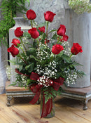 One Dozen Red Rose Arrangement