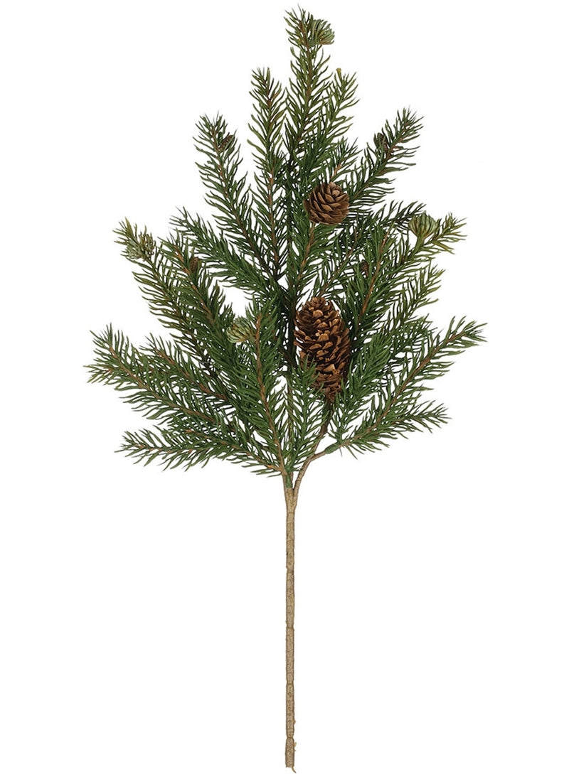 White Spruce with Cones Pick
