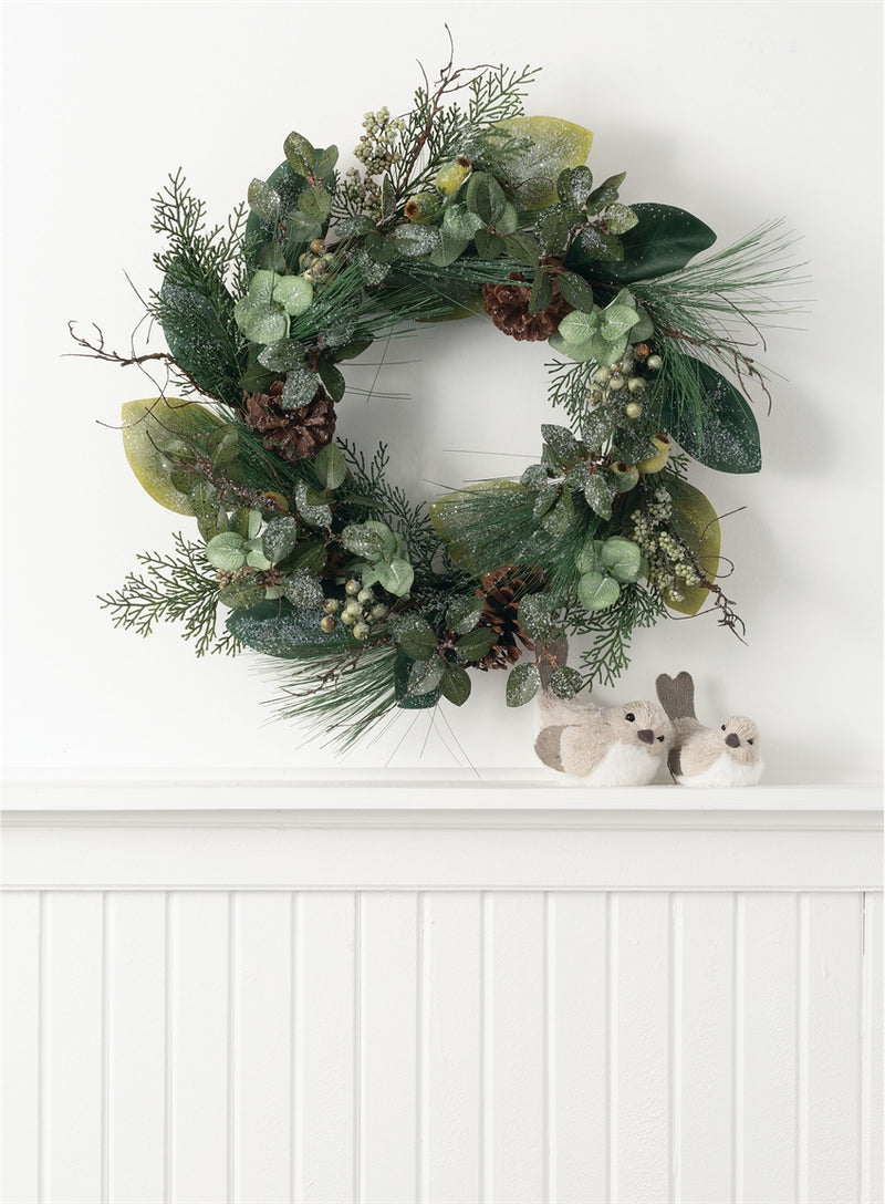 Natural Pine, Berry, and Cone Wreath