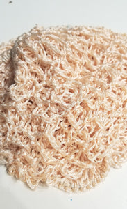 Crocheted snood hair net. Create quick pin-up style hairdos with less effort