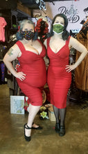Load image into Gallery viewer, Bad Betty Diva Red Pencil Dress by Steady