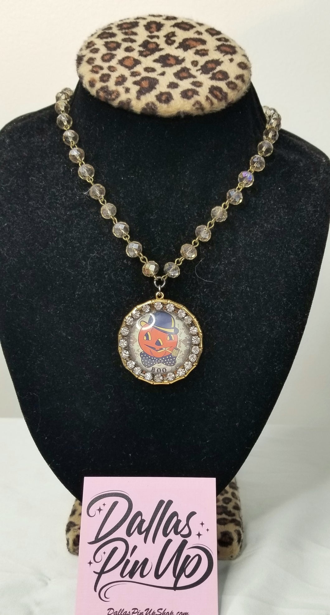 Savannah Hoffman Jack o lantern necklace