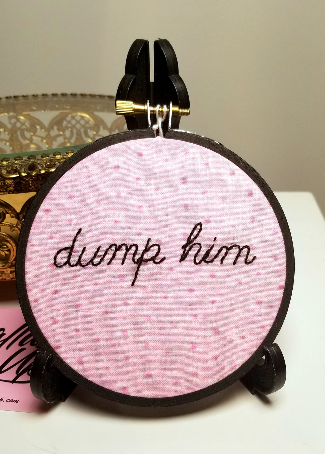 Kitschy Needle Dump Him Embroidery