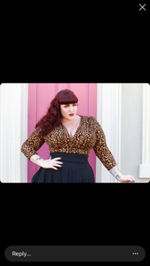 Savannah Hoffman designs 3/4 sleeve leopard top by Wax Poetic