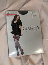 Load image into Gallery viewer, Mom's Closet Glamory Deluxe 20 black lace top hold ups