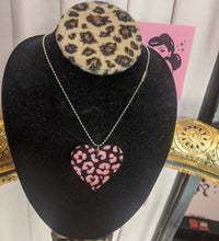 Load image into Gallery viewer, Killer Queen Leopard heart necklace