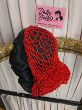 Load image into Gallery viewer, Crocheted snood hair net. Create quick pin-up style hairdos with less effort