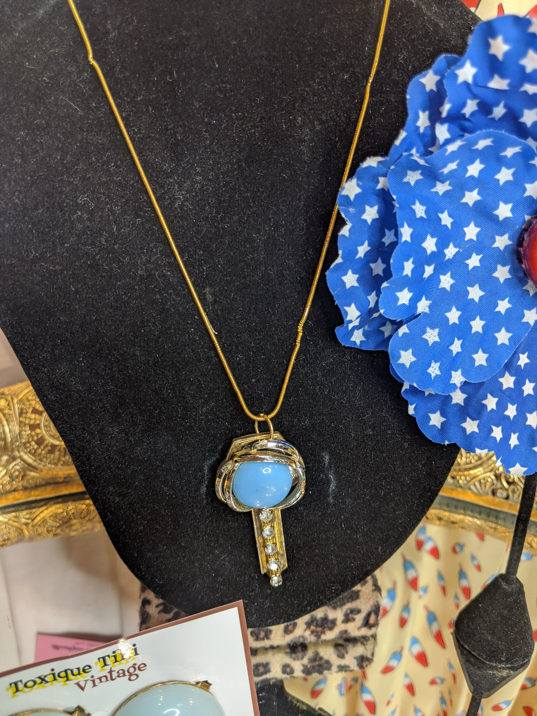 Revivalism Blue Key necklace