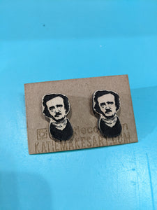 Killer Queen Edgar Allen Poe earrings