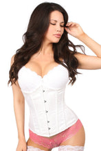 Load image into Gallery viewer, Moms Closet White Satin Underbust Corset