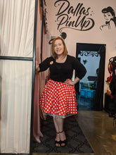 Load image into Gallery viewer, Billie Jo Retro Red Dot Mini Circle Skirt