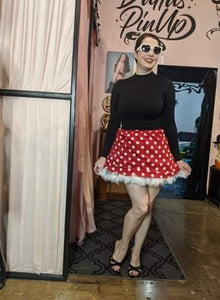 Billie Jo Retro Red Dot Mini Circle Skirt