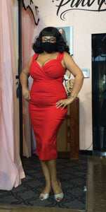 Bad Betty Diva Red Pencil Dress by Steady