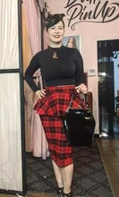 Load image into Gallery viewer, Bad Betty Clothing Unique Vintage plaid skirt