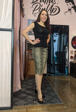 Load image into Gallery viewer, Billie Jo Retro Pencil Skirt - Leopard