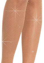 Load image into Gallery viewer, Moms Closet Leg Avenue Spandex Fishnet Tights With Rhinestone Detail