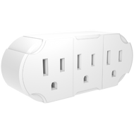 STANLEY 3 - WAY WALL ADAPTER - Stanley Electrical Accessories