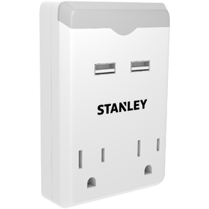STANLEY 2 OUTLET USB NIGHT LIGHT - Stanley Electrical Accessories