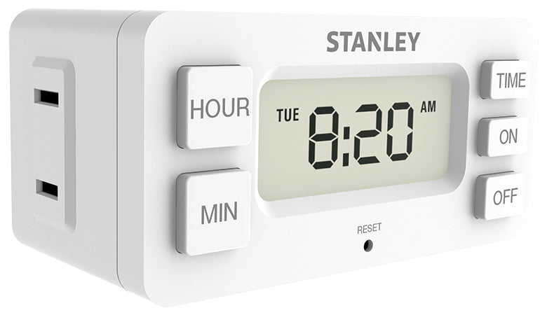 STANLEY Daily Digital Timer 2-Pack, Case of 12