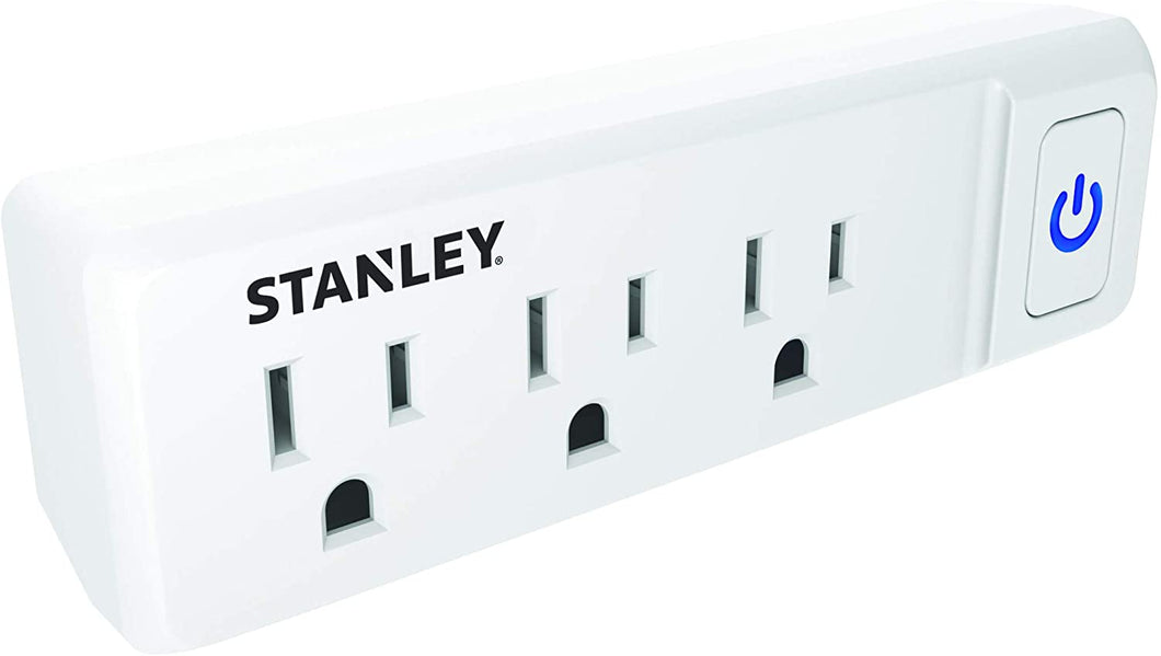 STANLEY 3-Outlet Wall Adapter with illuminated On/Off switch, Case of 24