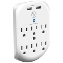 Load image into Gallery viewer, Westinghouse® Wall Surge 6. 6-Outlet 2 USB Wall Adapter, Case of 6