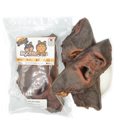 Beef snout dog treats