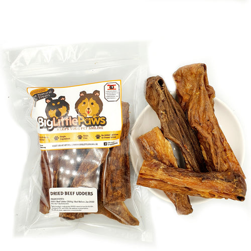 Dried Beef Udders Dog Treats