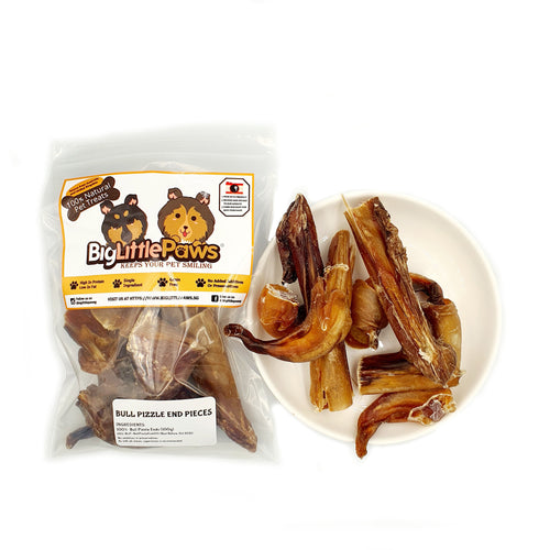 Dried Bull Pizzle End Pieces Dog Treats