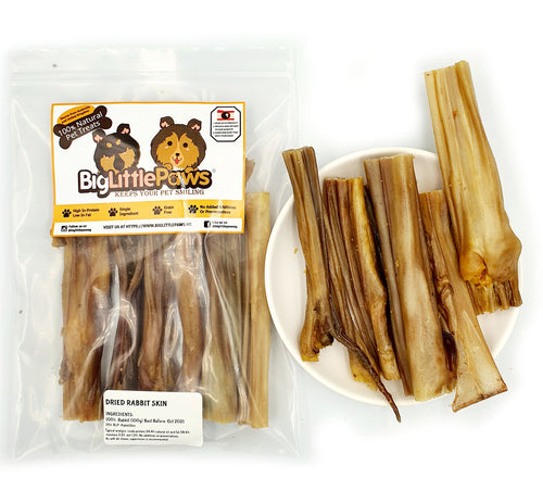 Dried Rabbit Skin Dog Treats