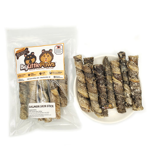 Salmon Skin Sticks Dog Treats