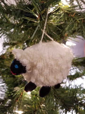 Christmas - Wooly Sheep Ornament (SMP30-1059)