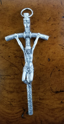 Crucifix - Wall, pewter